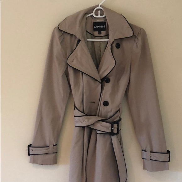 Express Jackets & Blazers - Express- khaki belted trench coat